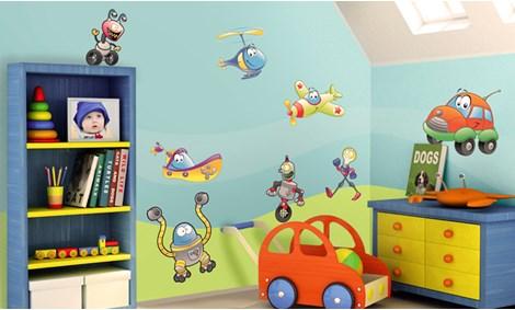 Camerette per bambini a tema gioco leostickers - Decorazioni camerette bambini immagini ...
